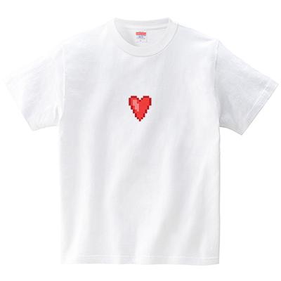 ハートドットスモール(Tシャツ・ホワイト)(犬田猫三郎)