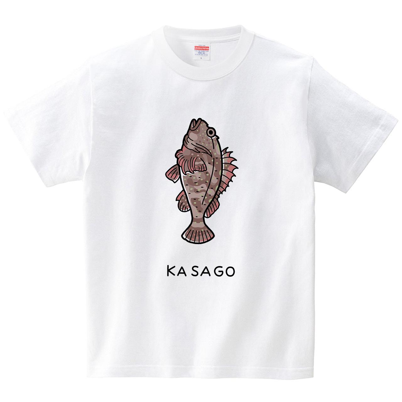 カサゴ(Tシャツ・ホワイト)(tsukamotojunko)
