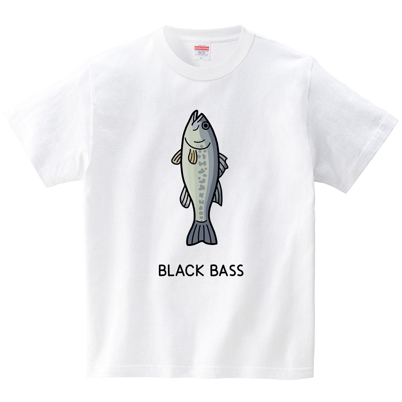 ブラックバス(Tシャツ・ホワイト)(tsukamotojunko)
