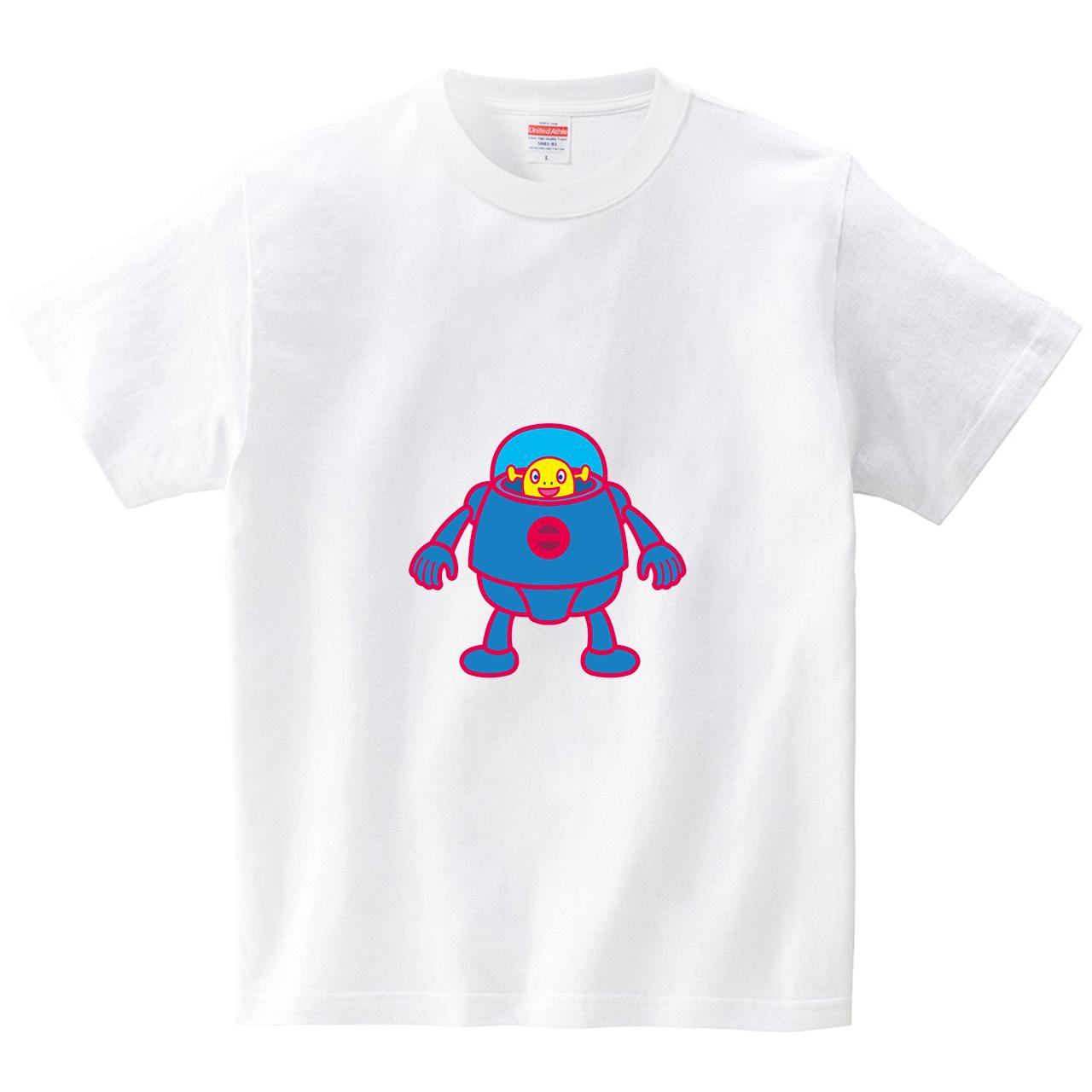 宇宙服を着た異星人(Tシャツ・ホワイト)(ハマダミノル)