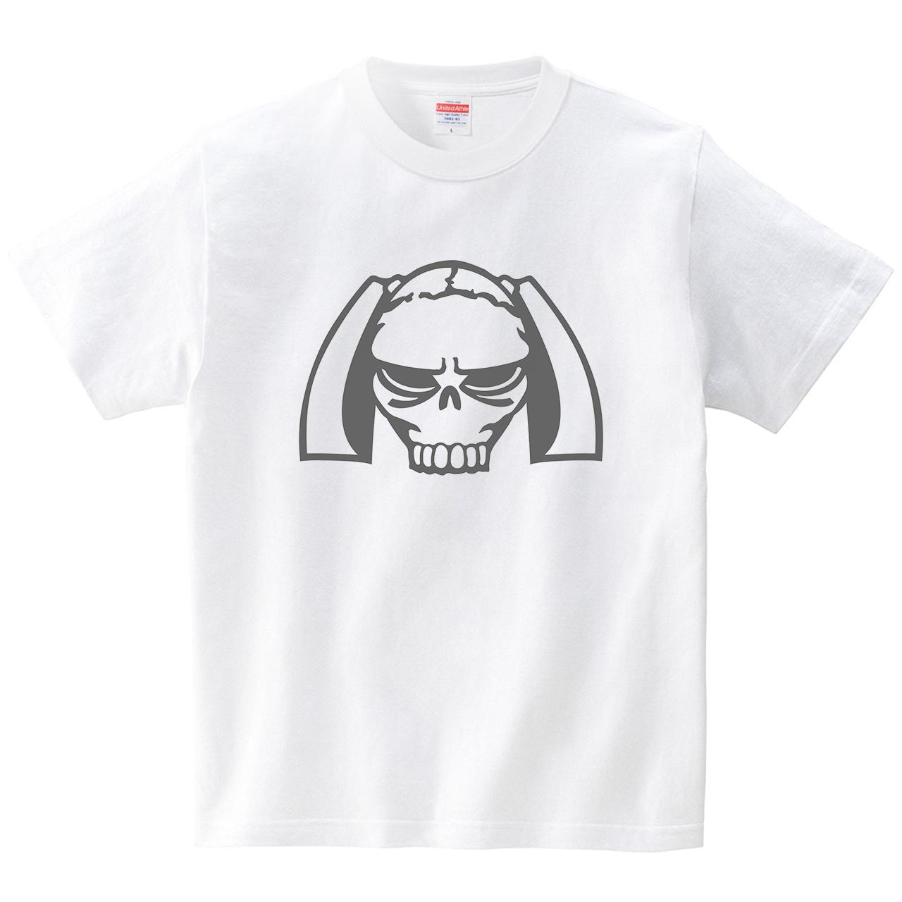 ツインテールスカル(Tシャツ・ホワイト)(犬田猫三郎)