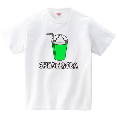 クリームソーダ(Tシャツ・ホワイト)(CHATON_CATON_T)