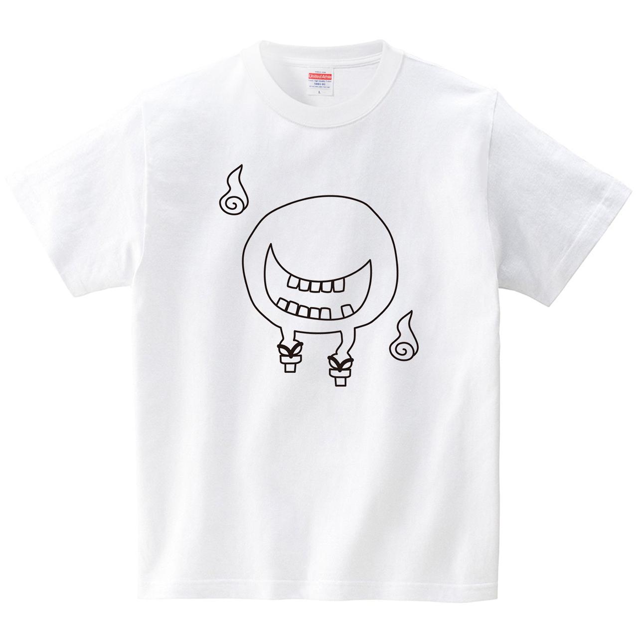 妖怪べとべとさん(Tシャツ・ホワイト)(CHATON_CATON_T)
