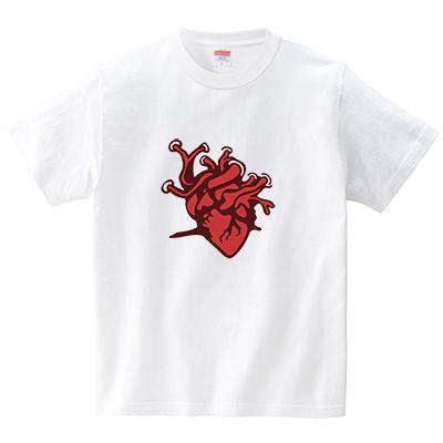 心臓(Tシャツ・ホワイト)(犬田猫三郎)