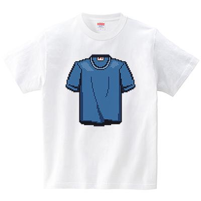 ドット絵シュール(Tシャツ・ホワイト)(犬田猫三郎)