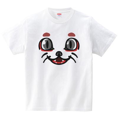 狐面(Tシャツ・ホワイト)(犬田猫三郎)