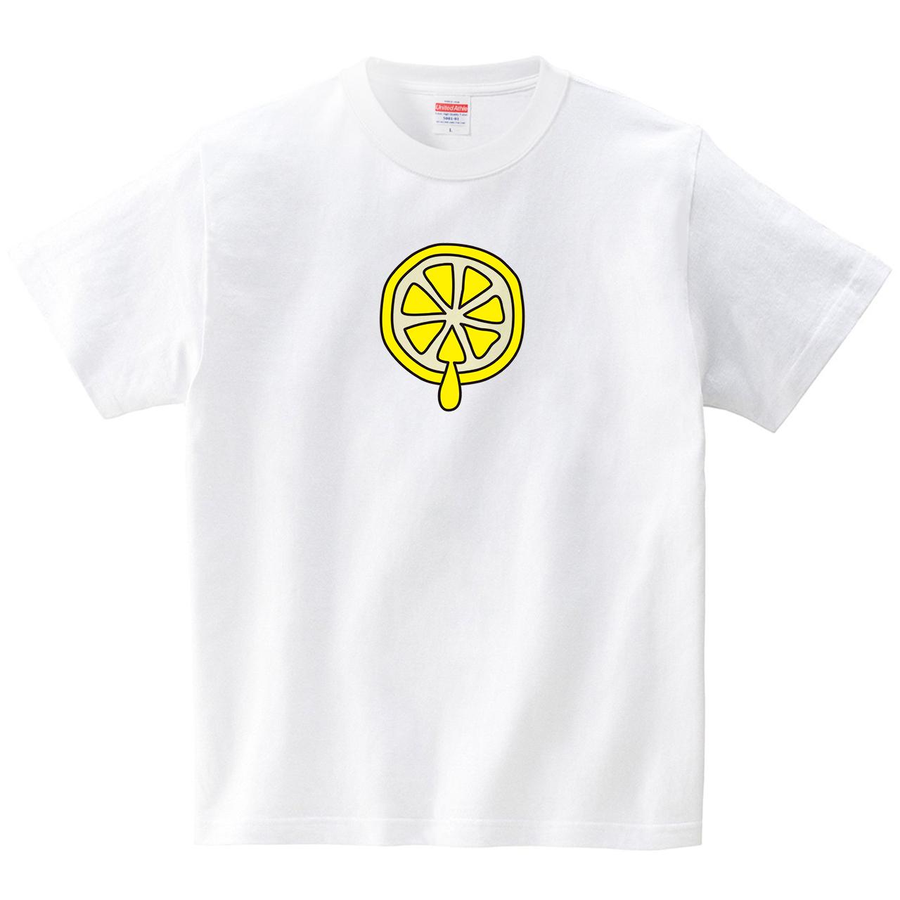 レモンちゃん(Tシャツ・ホワイト)(CHATON_CATON_T)