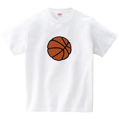 バスケットボール(Tシャツ・ホワイト)(犬田猫三郎)