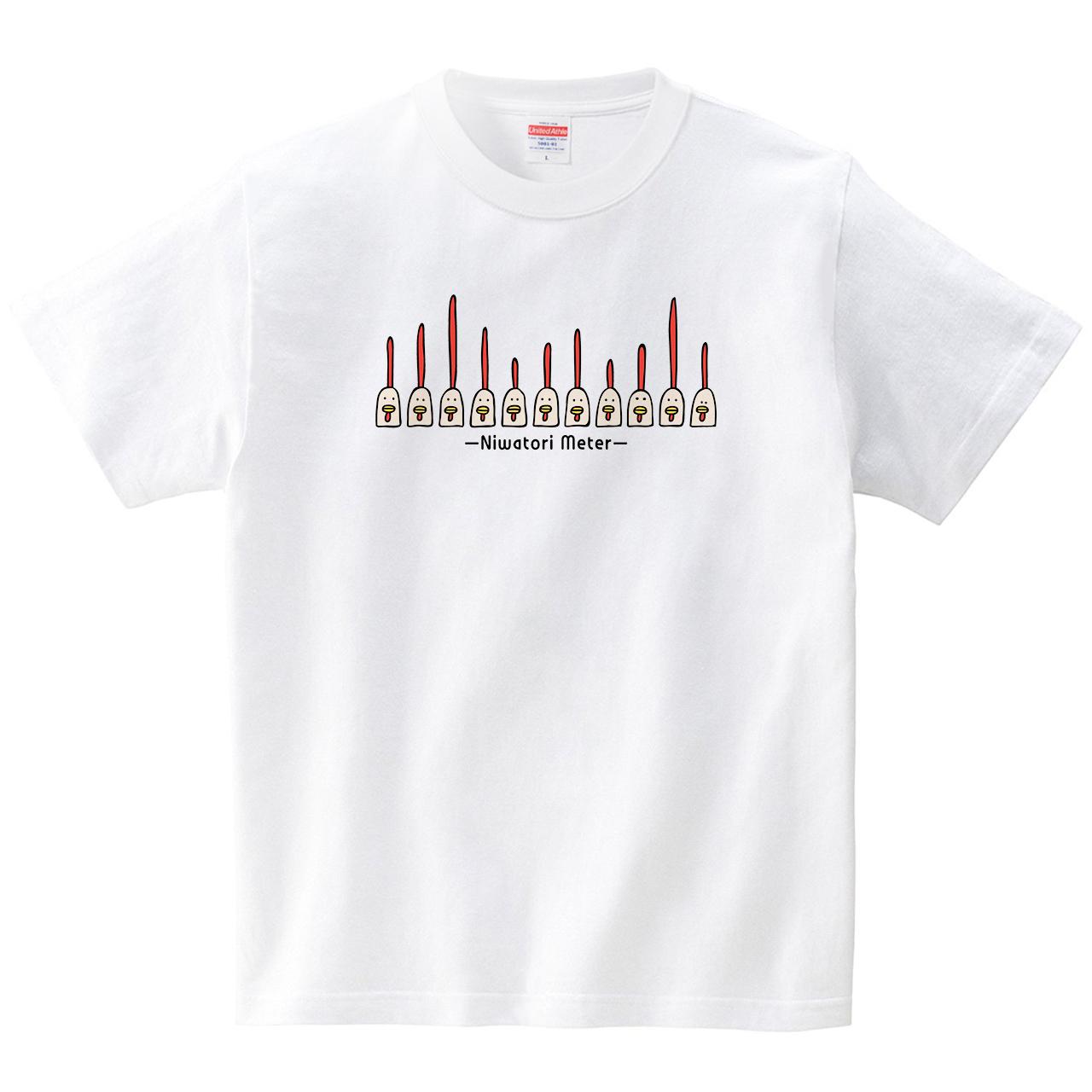 ニワトリメーター(Tシャツ・ホワイト)(オワリ)