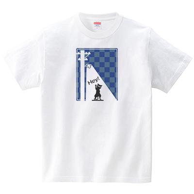 夜猫(Tシャツ・ホワイト)(緒弧ラボ)