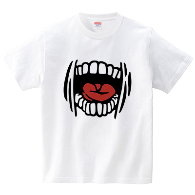 恐怖なマウス(Tシャツ・ホワイト)(犬田猫三郎)