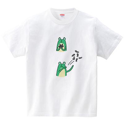 カエルが放り投げる(Tシャツ・ホワイト)(オワリ)