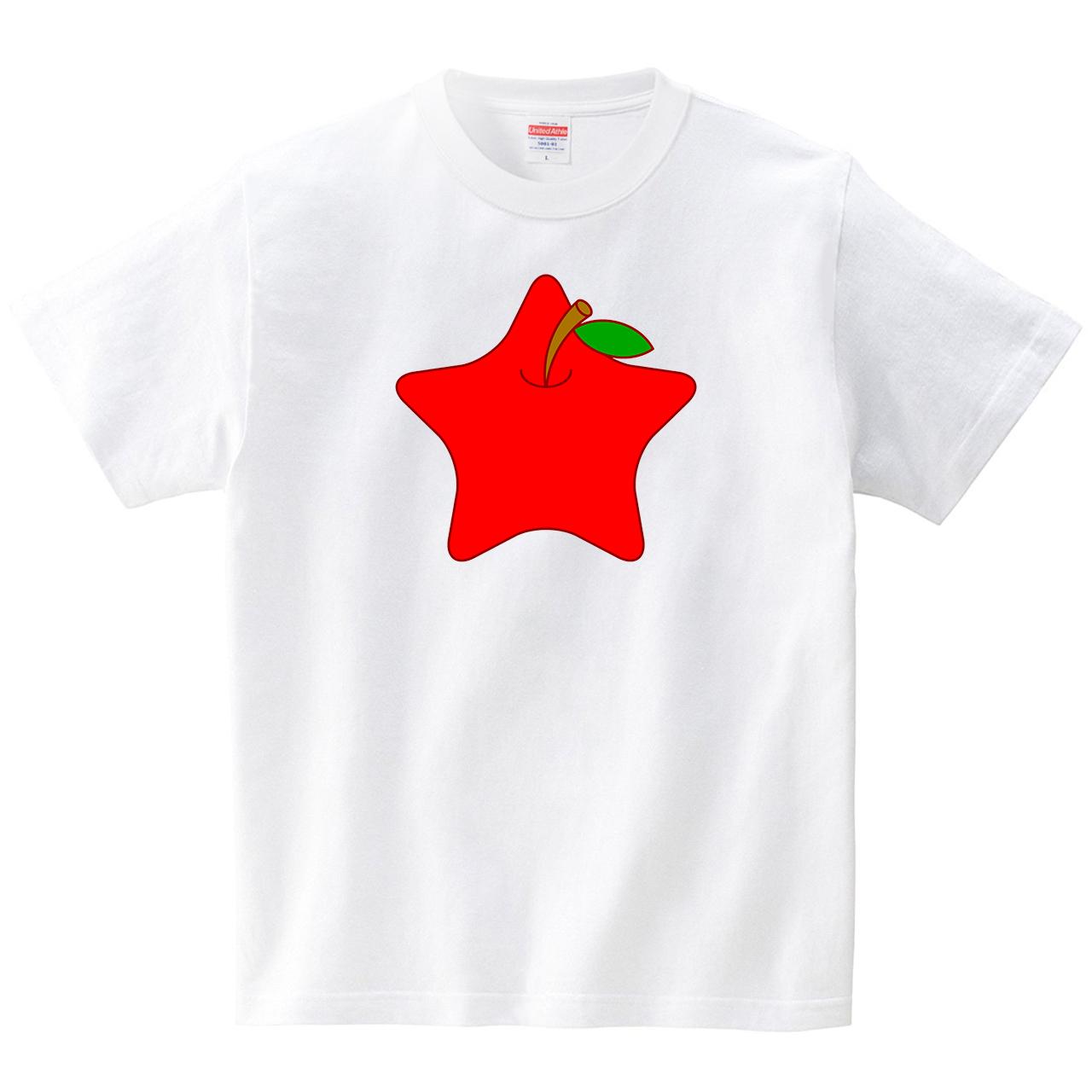 りんご星(Tシャツ・ホワイト)(JACK IN THE PIX)