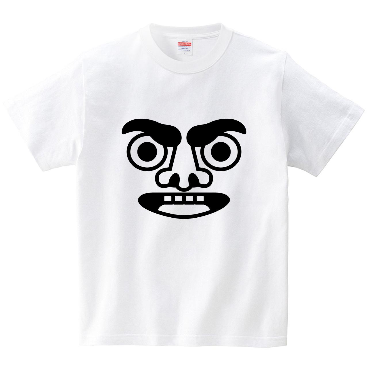 眉毛おこりん坊(Tシャツ・ホワイト)(犬田猫三郎)