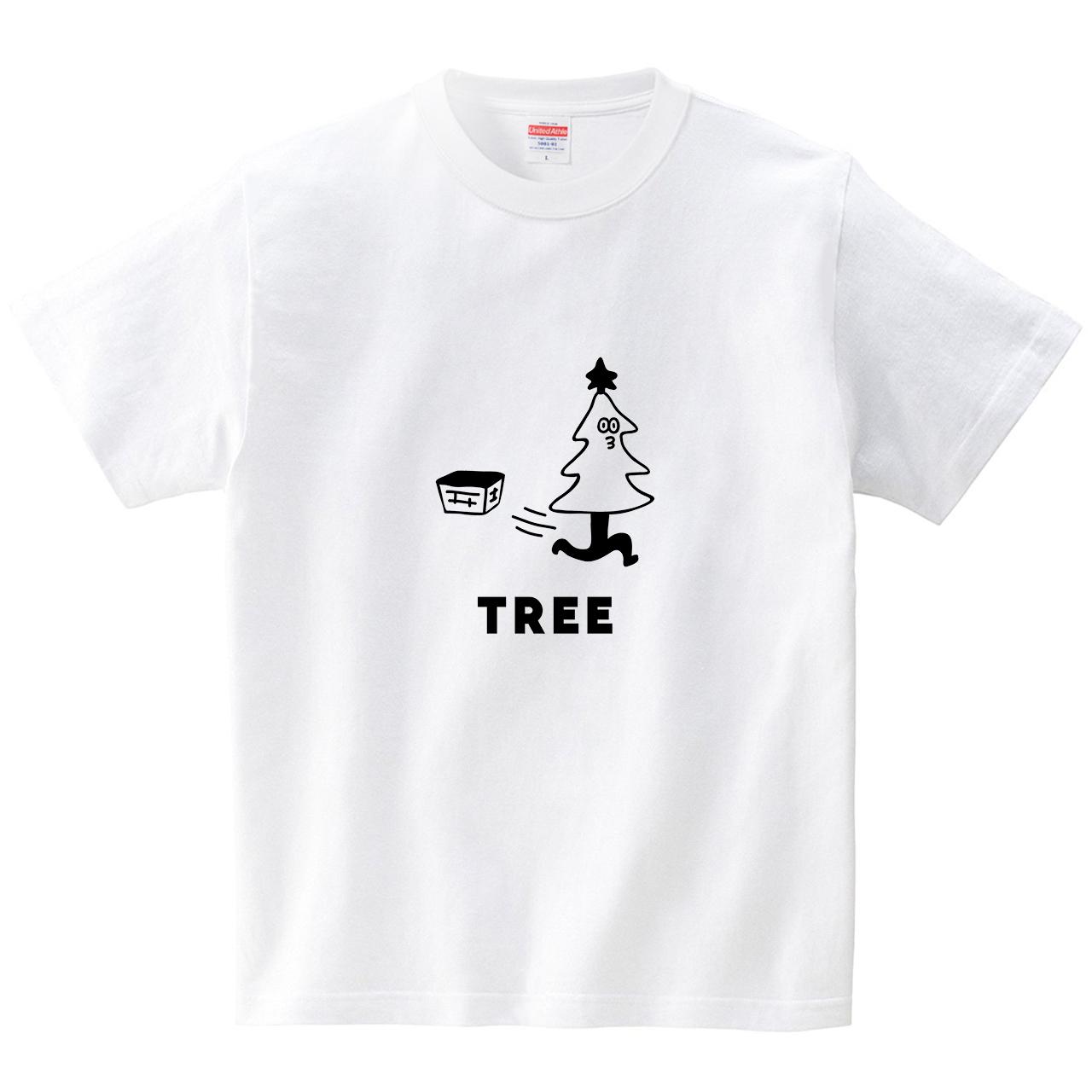 クリスマスツリーが走り出す(Tシャツ・ホワイト)(オワリ)