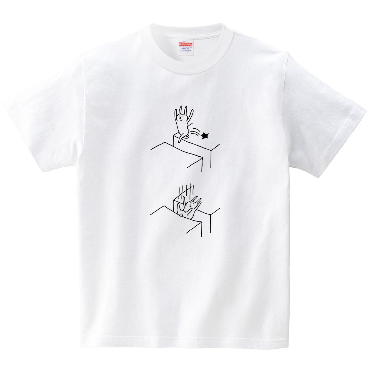 ウサギが飛び越える(Tシャツ・ホワイト)(オワリ)