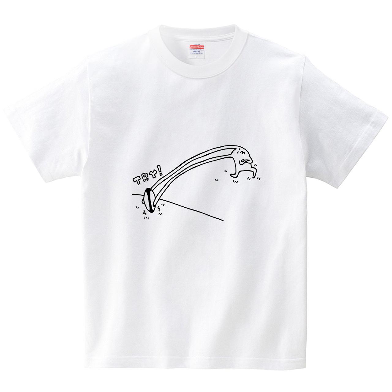 ウサギの耳トライ(Tシャツ・ホワイト)(オワリ)