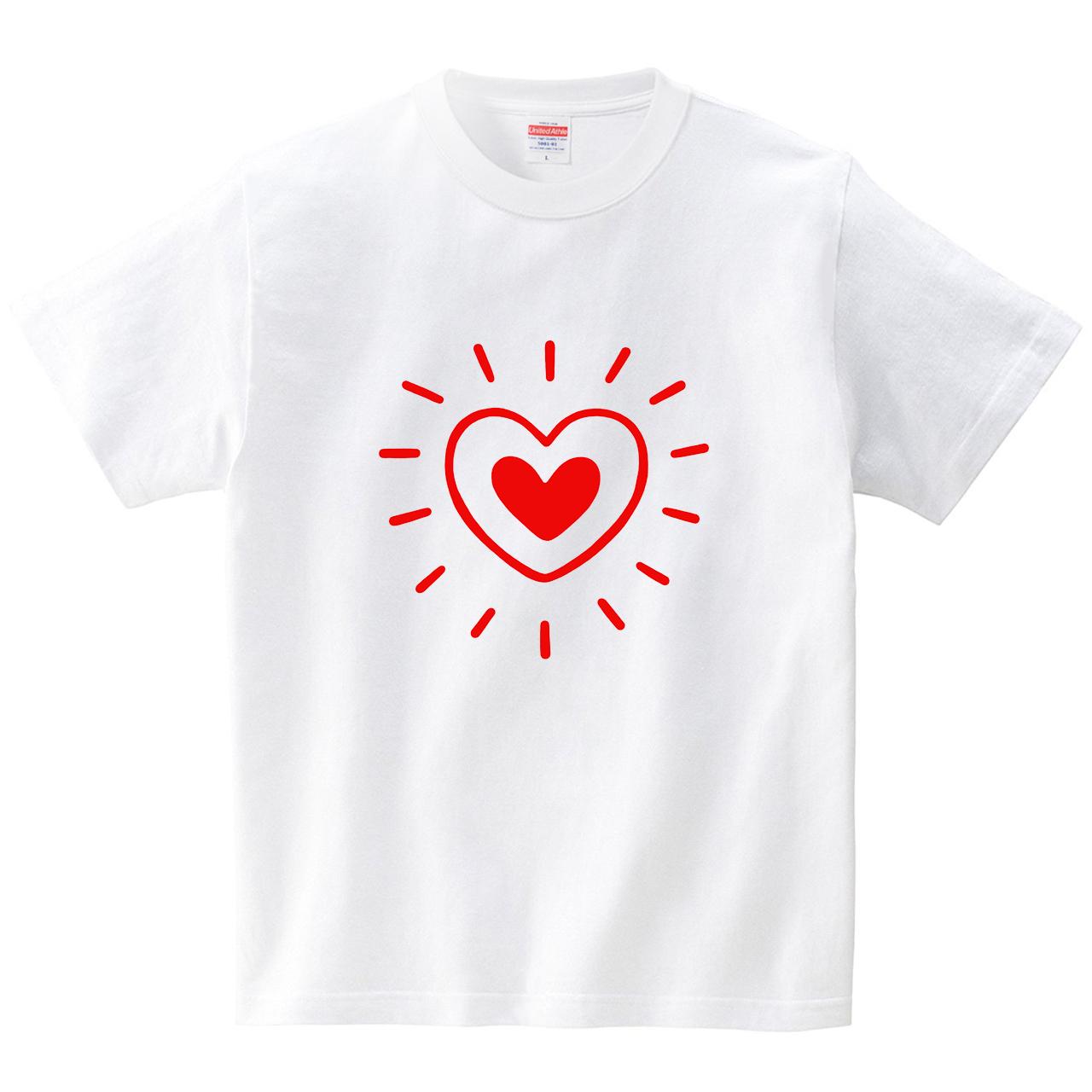 ピカピカハート(Tシャツ・ホワイト)(tsukamotojunko)