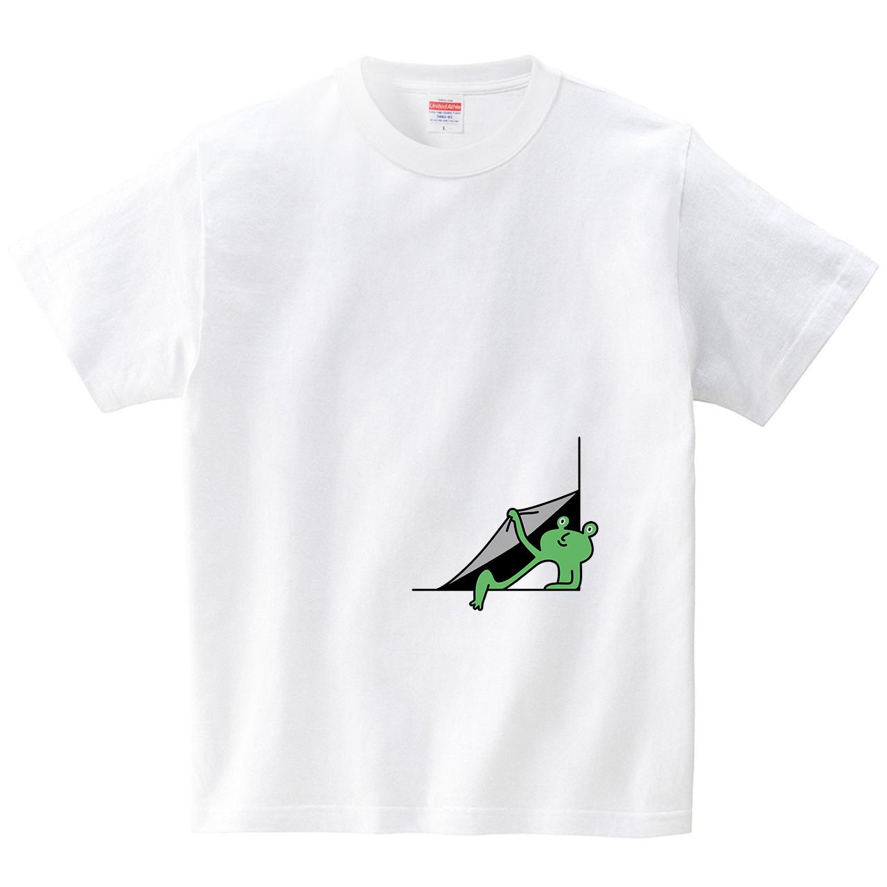 隅でカエルめくり(Tシャツ・ホワイト)(オワリ)