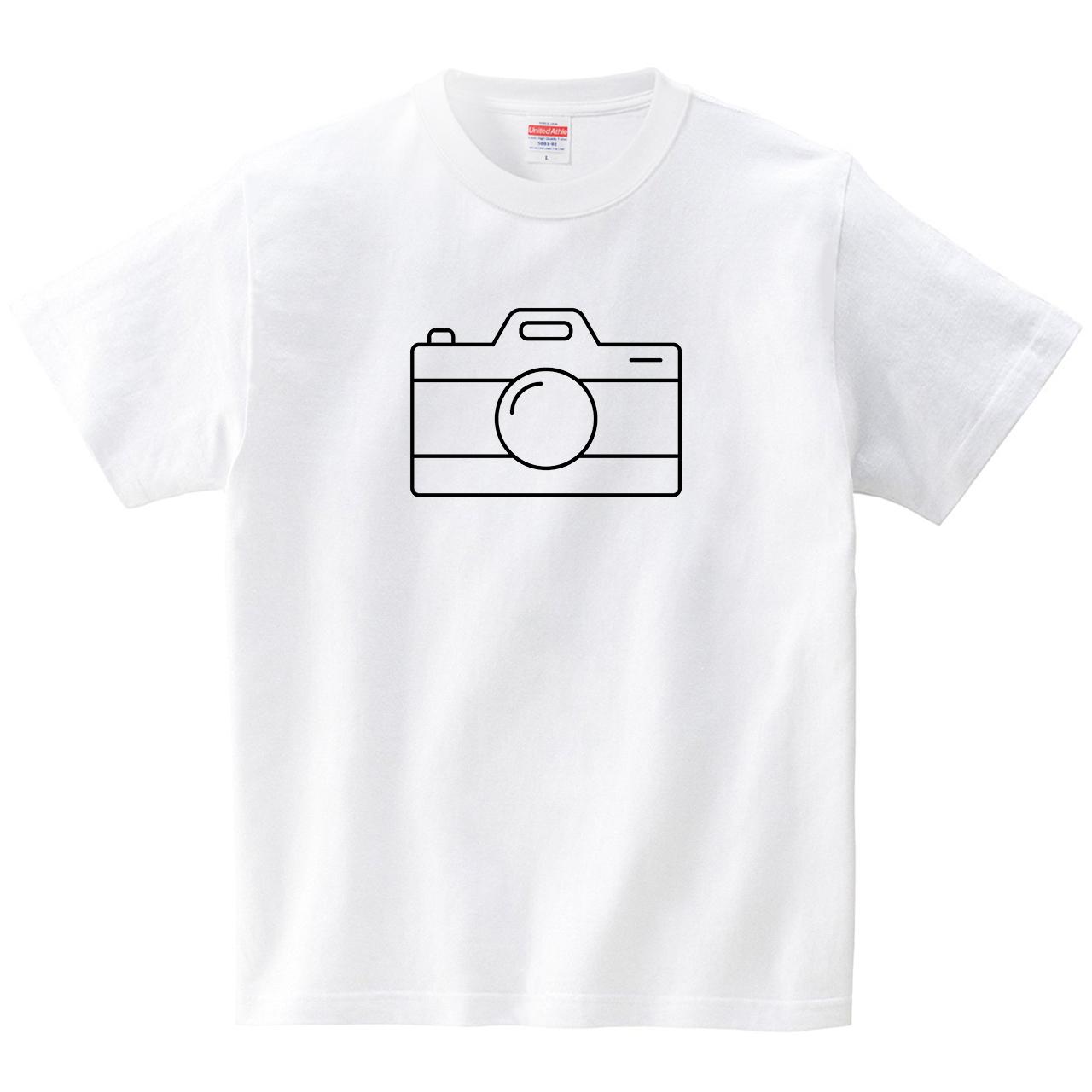 Camera icon(Tシャツ・ホワイト)(GMDW)