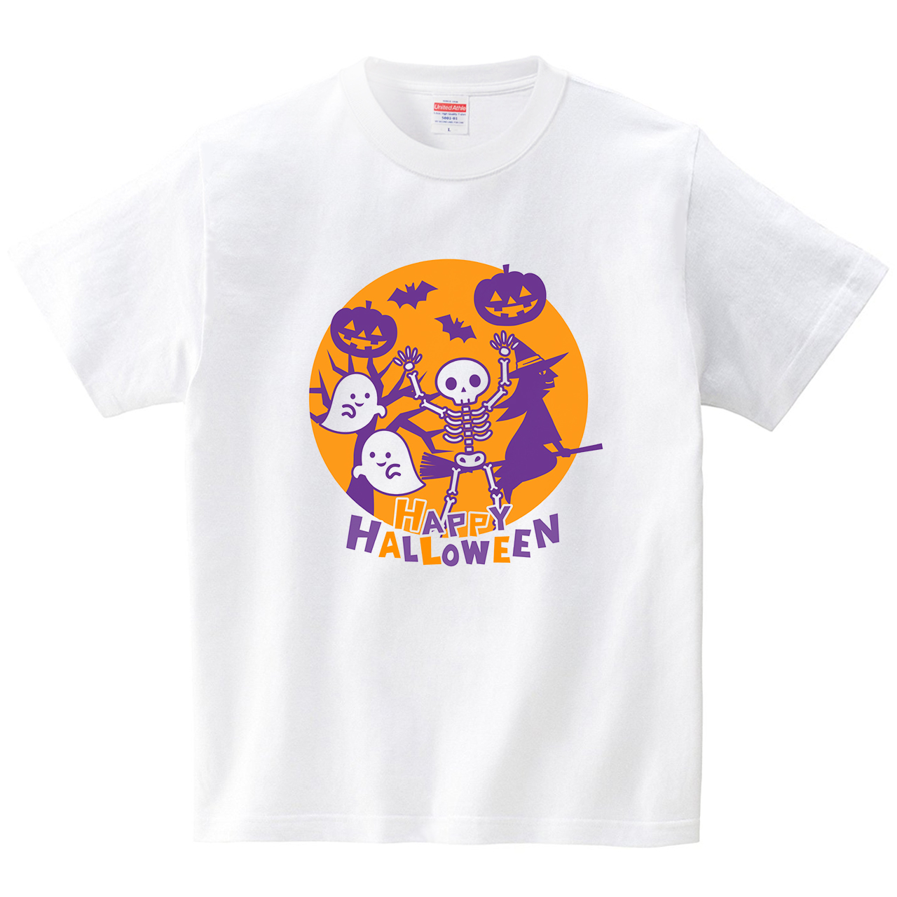 ハロウィンモンスター(Tシャツ・ホワイト)(あずき*)