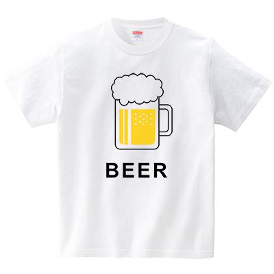 ビール(Tシャツ・ホワイト)(なごさん)