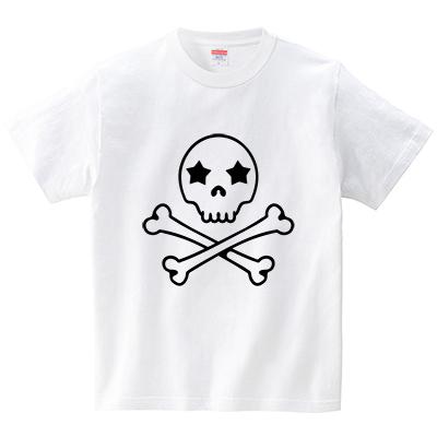 スタースカル(Tシャツ・ホワイト)(犬田猫三郎)