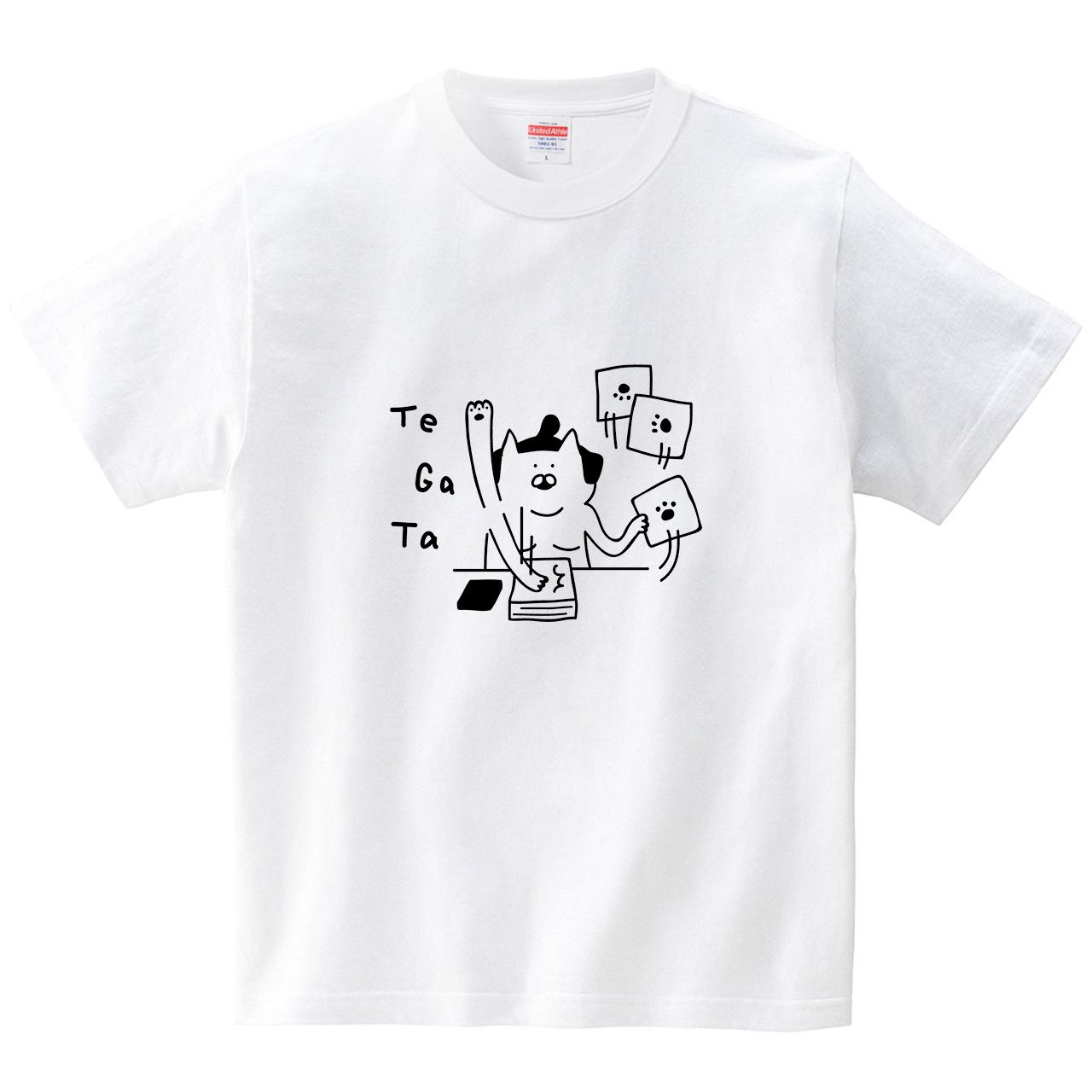 ネコ力士の手形(Tシャツ・ホワイト)(オワリ)
