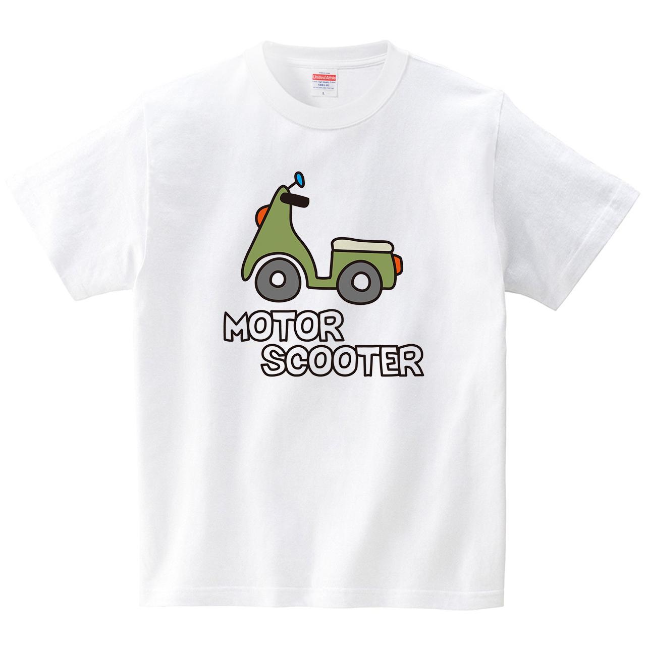 スクーター(Tシャツ・ホワイト)(CHATON_CATON_T)