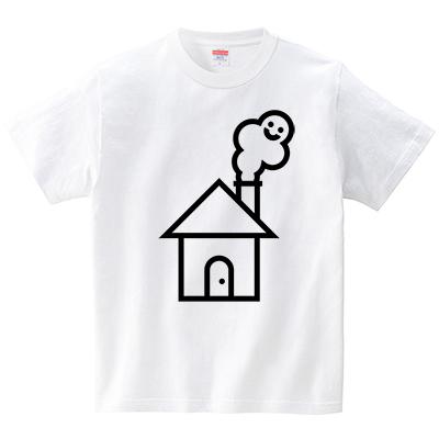 もくもくゴースト(Tシャツ・ホワイト)(犬田猫三郎)