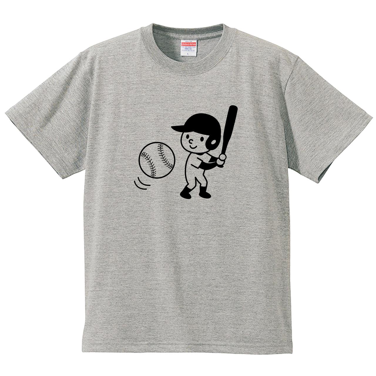 ソフトボール野球(Tシャツ・ミックスグレー)(ホワイトミント)