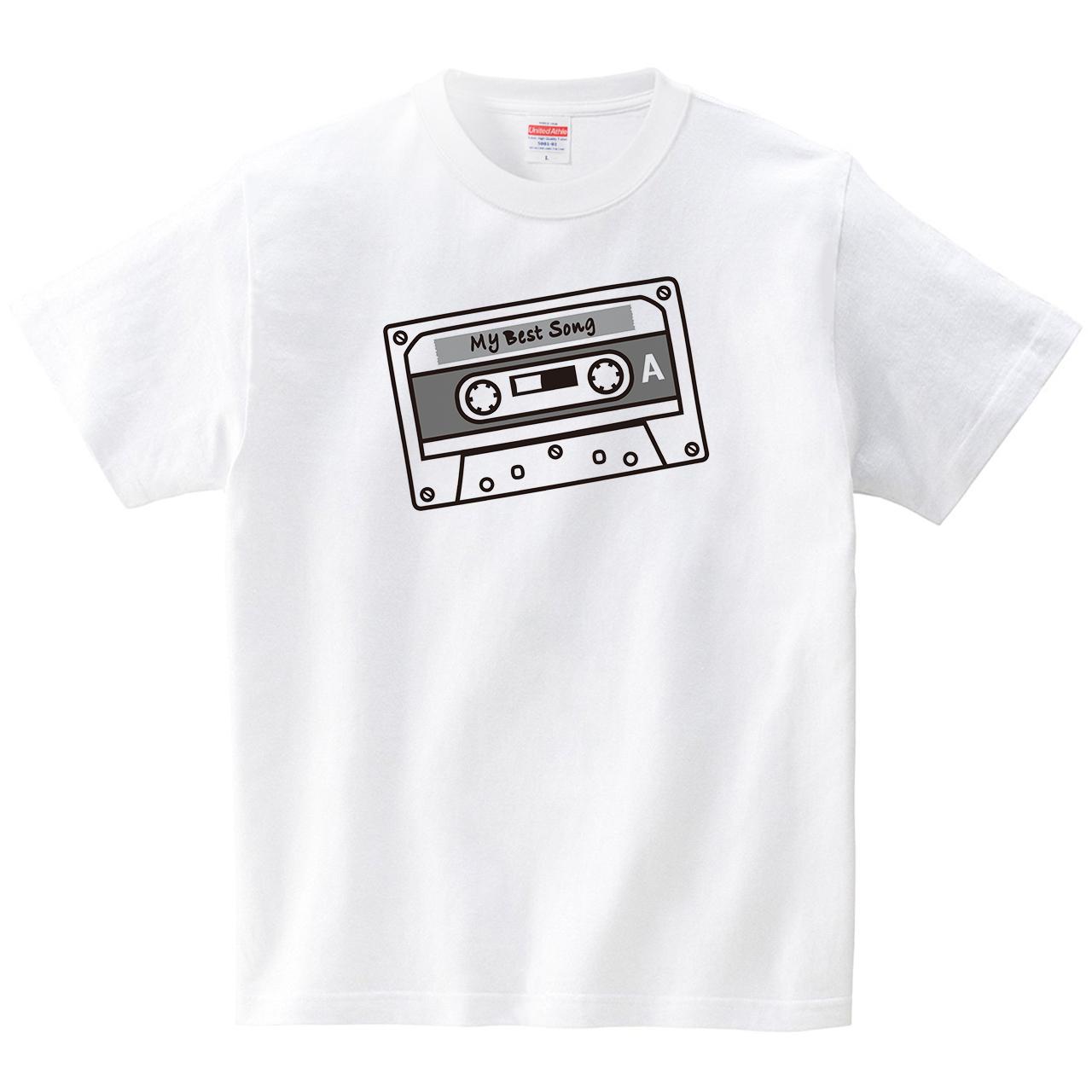 カセットテープ(Tシャツ・ホワイト)(CHATON_CATON_T)
