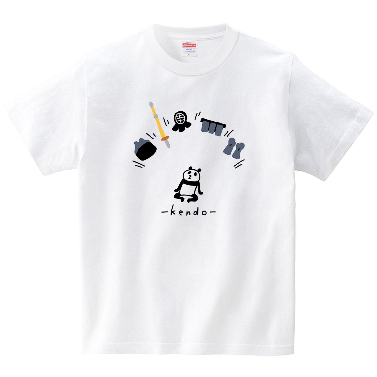 パンダと防具(Tシャツ・ホワイト)(オワリ)