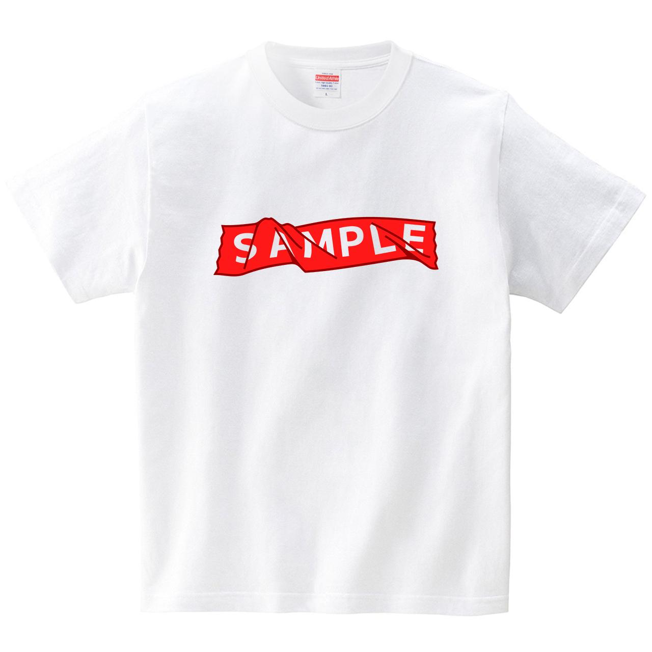 SAMPLEシール(Tシャツ・ホワイト)(犬田猫三郎)