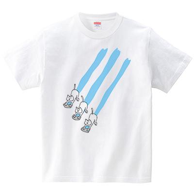 ネコ達の雑巾がけ(Tシャツ・ホワイト)(オワリ)