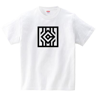 正方形KICK(Tシャツ・ホワイト)(JACK IN THE PIX)