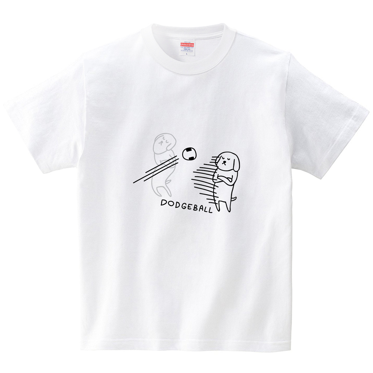 残像とイヌとドッジボール(Tシャツ・ホワイト)(オワリ)