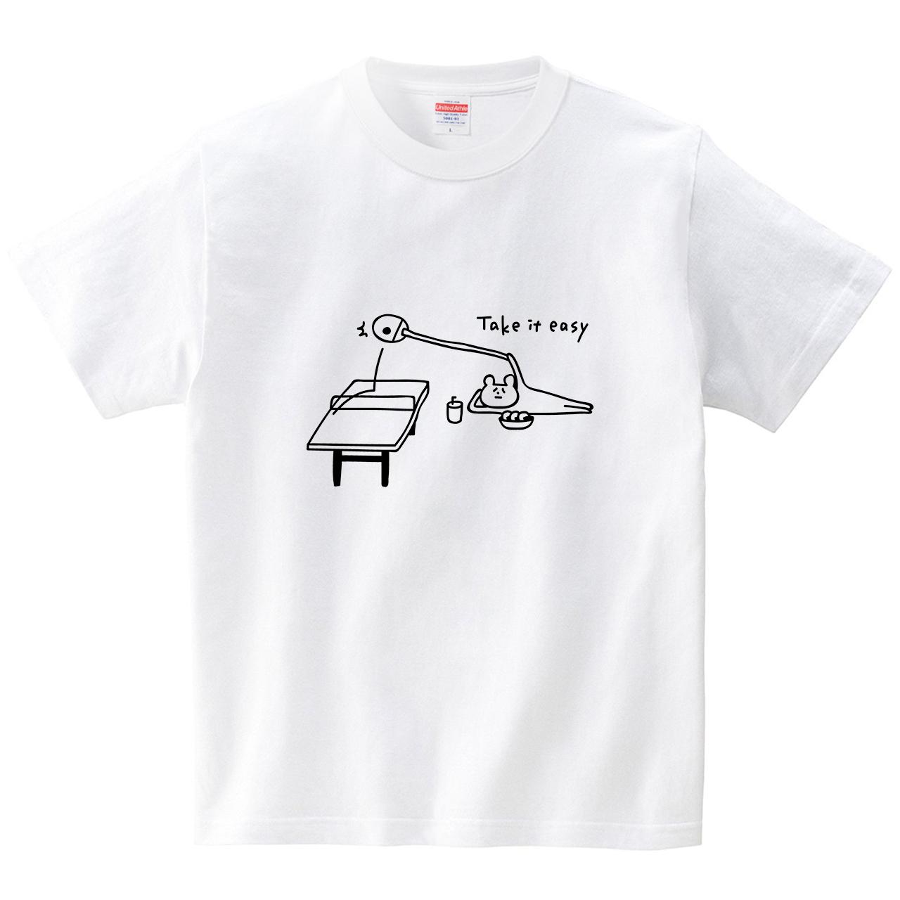 ゴロゴロしながら卓球(Tシャツ・ホワイト)(オワリ)