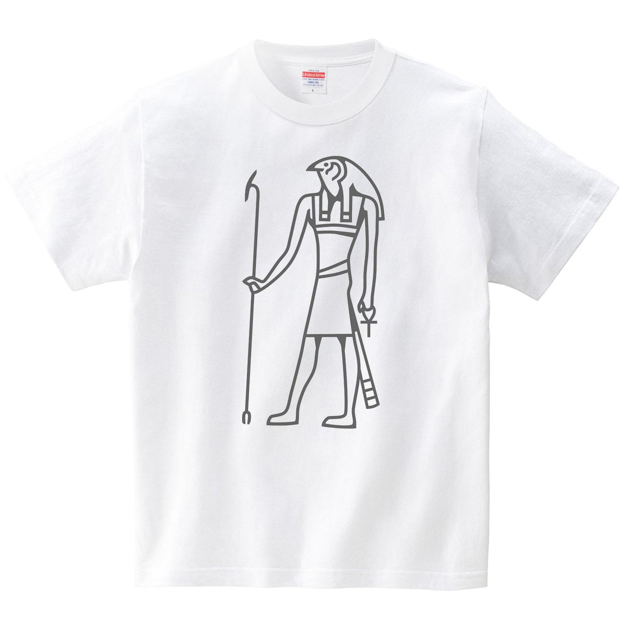 古代エジプトの偉い方(Tシャツ・ホワイト)(犬田猫三郎)