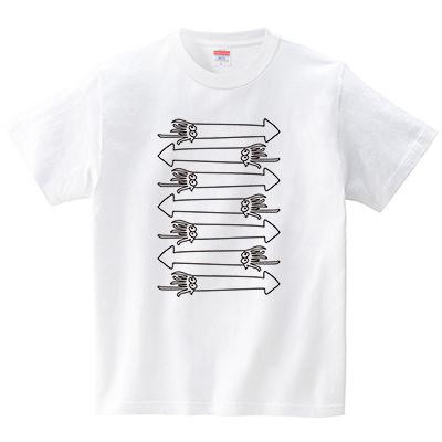イカボーダー(Tシャツ・ホワイト)(CHATON_CATON_T)